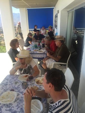Enjoying a great buffet
