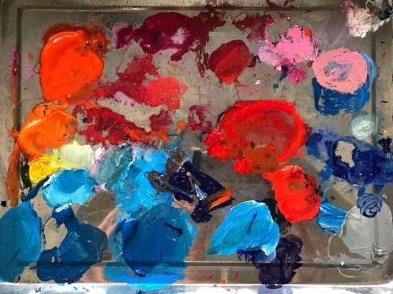 Blue and orange fascinating me