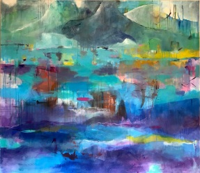 """Opelland-Hampel"""" Dreaming about Greenland"""" 140x160 cm"""