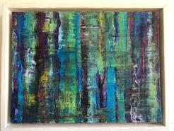 blue wood 24x18 cm