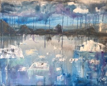 Greenland blues 81x65 cm 750 €