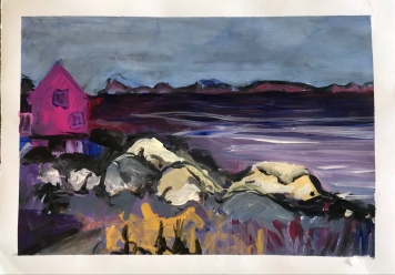 Greenland Acrylic on Paper 35x25 cm