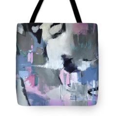 Tote bag grey blue white